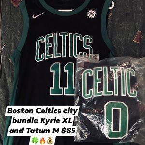 Boston Celtics jersey bundle Kyrie XL Tatum M NWT